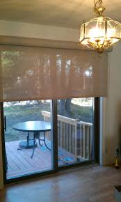 Curtains For Sliding Glass Patio Doors After Sleek Solar Shade Window Treatments For Sliding Glass Patio