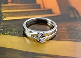 commitment ring online shop heart silver color anel commitment ring wedding