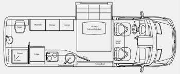 sprinter van floorplan campers caravans glamping pinterest