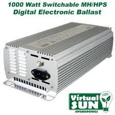 virtual sun grow light reviews virtual sun vs1000wdb 1000 watt digital grow light 1000w 120 240v