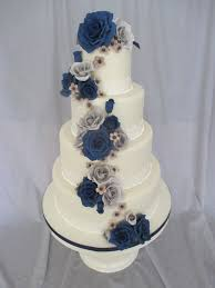 navy and gray wedding cake cakecentral com