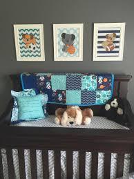 Nursery Boy Decor by Puppy Dogs Wall Art Dog Baby Boy Bedroom Sports Nursery Boy Art