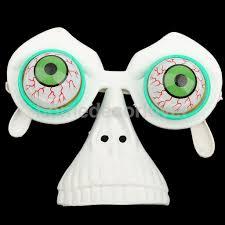halloween joke droopy eyes on springs glasses frame fancy dress