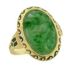 art deco 14kt enamel u0026 carved jade ring u2013 a brandt son