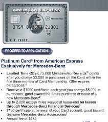 amex platinum 75 000 points mercedes benz signup bonus doctor of