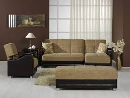 modern two tone living room w multifunction sectional sofa bed