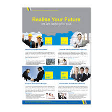 engineering brochure templates free recruitment agency flyer template