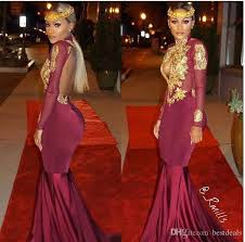 Black And Gold Lace Prom Dress Cheap Burgundy Long Sleeve Gold Lace Prom Dresses 2017 Real Image