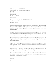 best solutions of cover letter for leasing consultant job on