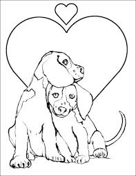 dog coloring pictures printable couple beautiful dogs