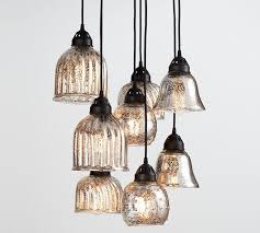 pottery barn lights hanging lights kenzie mercury chandelier pottery barn