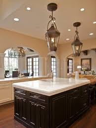kitchen simple lantern style 3 light kitchen island lighting