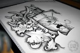 a custom coat of arms design on behance
