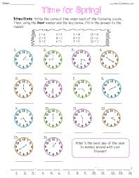 free telling time practice worksheets