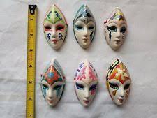 ceramic mardi gras masks for sale clay venetian mardi gras resin decorative masks ebay