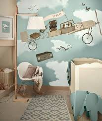 chambre enfant papier peint bebe 9 déco couleurs