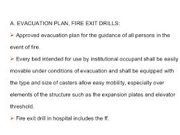 fire dril li in hospital