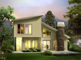 one story contemporary house plans eureka berm home plan 122d 0001 house plans and more