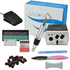 amazon com salon edge brand pro complete nail drill kit set bits