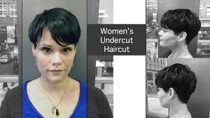 woman u0027s undercut short haircut at volume hair studio philadelphia