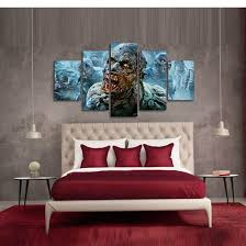 Walking Dead Zombies 5 Pieces Canvas Wall Art HD Quality