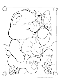 care bears coloring care bear