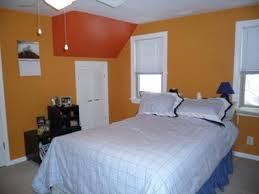 Bedroom Walls Paint Sponge Painted Bedroom Walls With Orange Accents