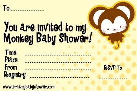 monkey themed baby shower invitations plumegiant com