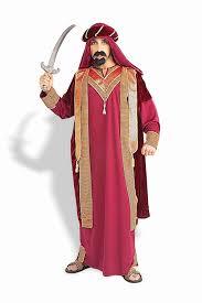 amazon com forum novelties men u0027s sultan costume red gold