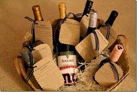 bridal shower wine basket bridal shower gift idea wine basket with poems