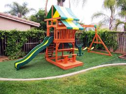 Backyard Swing Plans by Backyard Playset Ideas Backyard Landscape Design