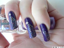 blue tape and nail tips nd6 shooting star