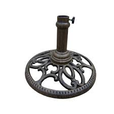 patio umbrella stand side table oakland living round patio umbrella stand in antique bronze 4101