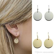 monogram jewelry cheap 2017 hot new fashion disc earrings for women fashion jewelry