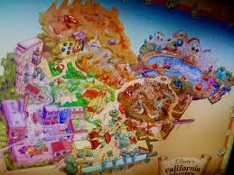 map of california adventure 15th disney california adventure disney at work