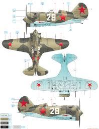 polikarpov i 16 type 17 baltic fleet 1942 color profile and paint