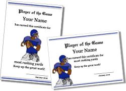 printable football award templates