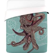 Valentina Ramos Duvet Deny Designs Octopus Duvet Cover King Fab
