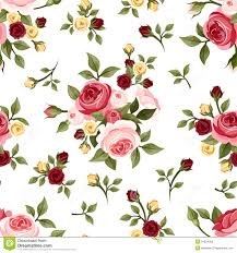 vintage seamless pattern with roses stock vector illustration