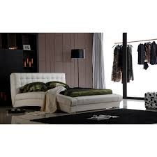 King Bed Leather Headboard by Bellaire California King Size Bed Frame U0026 Headboard In White
