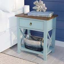 blue nightstands birch lane