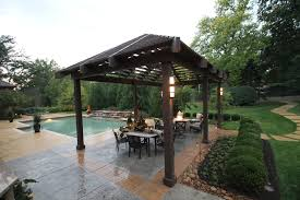 des peres outdoor kitchen with pool renovation poynter