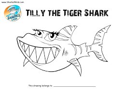 epic tiger shark coloring pages 23 for your picture coloring page