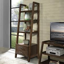 Walnut Ladder Bookcase Simpli Home Sawhorse Ladder Shelf Bookcase Hayneedle