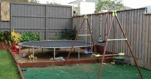 Best Backyard Trampolines What To Use As Trampoline Base Hometalk