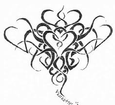 tribal heart tattoo flash by semper on deviantart