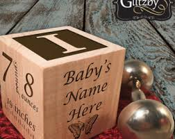 personalized baby block ornament personalized wooden baby block ornament