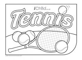 tennis colouring picture ichild