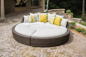 Oval Sofa Bed Multifunctional Outdoor Sun Bed Designed Big Sofa With Oval