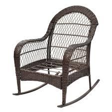Rocking Chair Outdoor Furniture Outdoor Wicker Rocking Chair W Cushion Outdoor Chairs Outdoor